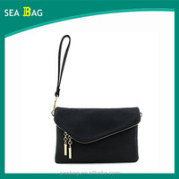 Fashion Leather Women Evening Party Purse Envelope Wristlet Clutch Crossbody Bag with Chain Strap
