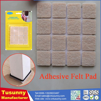 Non Woven Adhesive Felt Scratch Protector Outdoor Furniture Foot Pad