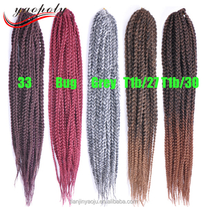 Synthetic 3X havana mambo twist braid 24 inch long box braid crochet twist hair braiding