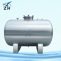 Sanitary food processing horizontal/vertical stainless steel pressure vessel/storage tank