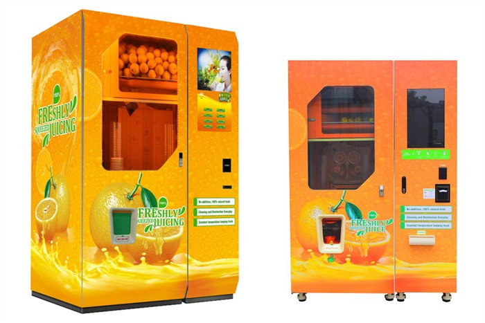 Automatic fresh juice cup orange extract vending machine