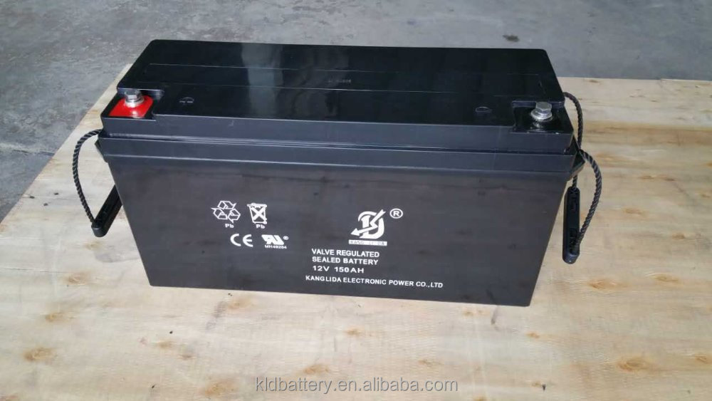 solar power system , 12V 150AH VRLA Type Sealed Lead Acid Battery