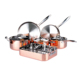 7PCS copper tri ply german prestige cookware set