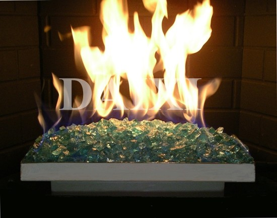 Broken Glass Fire Pit : And broken tempered fireplace glass tinted