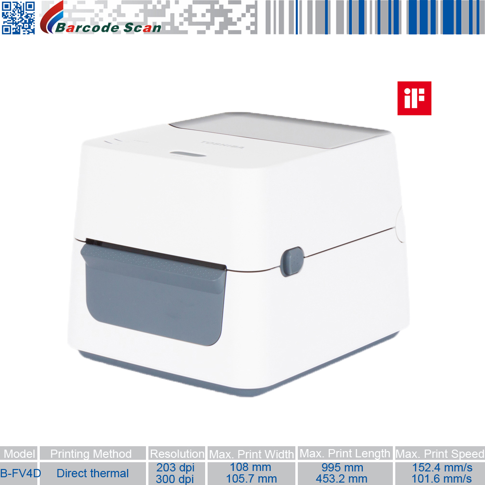 Label Printer TEC B-FV4D Desktop Barcode Printer Seamless To Integrate And So Easy To Use