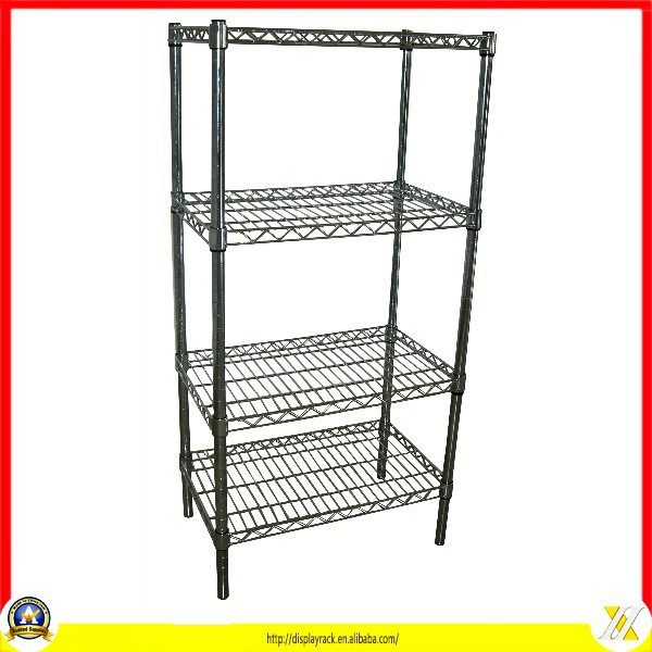4 layers heavy duty chrome wire shelving system
