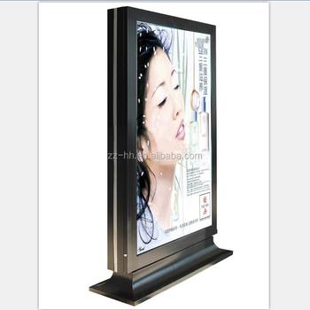 Free Standing City Street Matal Frame Light Box Billboard - Buy ...
