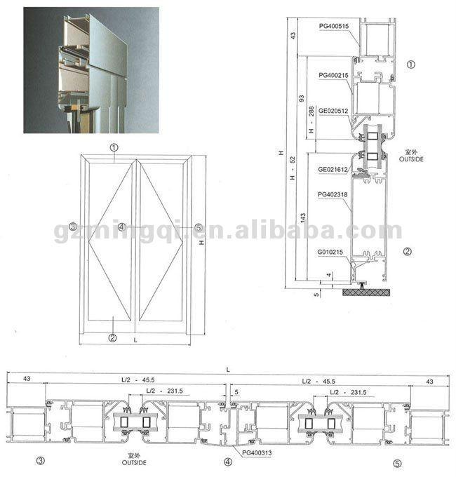 Energy Efficient Thermal Break Profile Aluminum Bifold