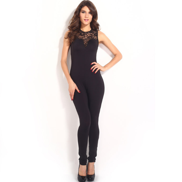 Ms61839w Fashion 2015 Black Jumpsuits Fitted Pants Women Jumpsuit ...
