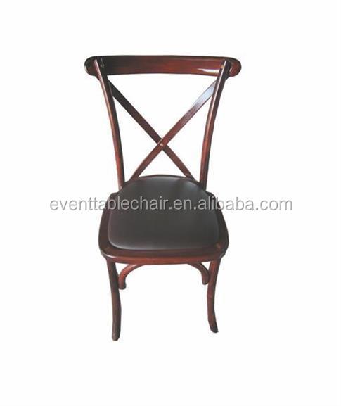 Utilizado madera curvada Cruz volver sillas de comedor para la venta ...