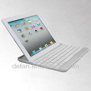 For the New iPad and ipad 2/3/4 Metallic Aluminum Wireless Keyboard Case Cover Bluetooth 3.0