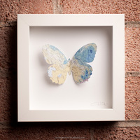 3d colorful butterfly with mirror framed wall art pictures for hotel decorative art work wholesale