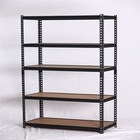 New design popular quality warehouse black storage rack adjustable shelving gourd hole shelves Rivet lock