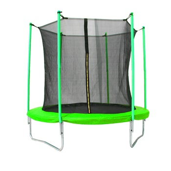 Baoxiang  CE 8ft garden Outdoor Jumping Trampoline bed with inside Enclosure Safety Net