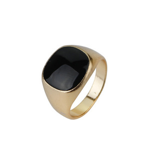 The Fine Imitated Black Gem Rings Personalized Man Ring For Party