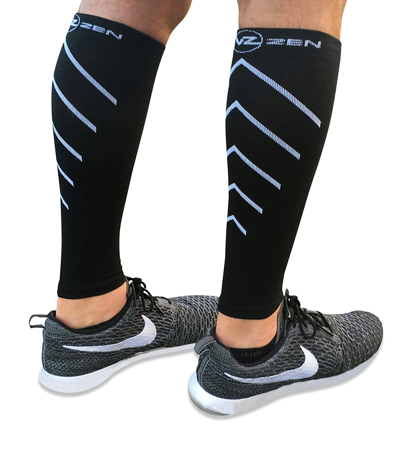 2d6f1ede35 Calf Compression Sleeves - Footless Leg Muscle Support Compression socks  for Men or Women - Improve