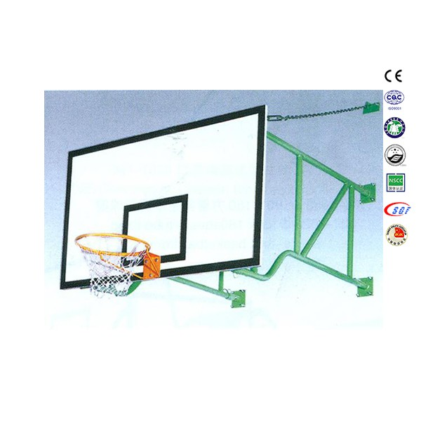 Premium quality basketball wall mount system basketball glass backboard for sale