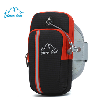 Factory direct fitness running phone Arm pocket screen printing customized mobile phone Arm pack outdoor sports arm band bag