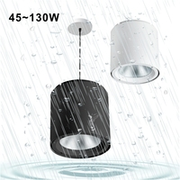 HH31 Round 10000 Lumen IP54 Dimmable False China Cylinder Cob Ip65 Modern Suspended Surface Mounted Led Black Ceiling Light