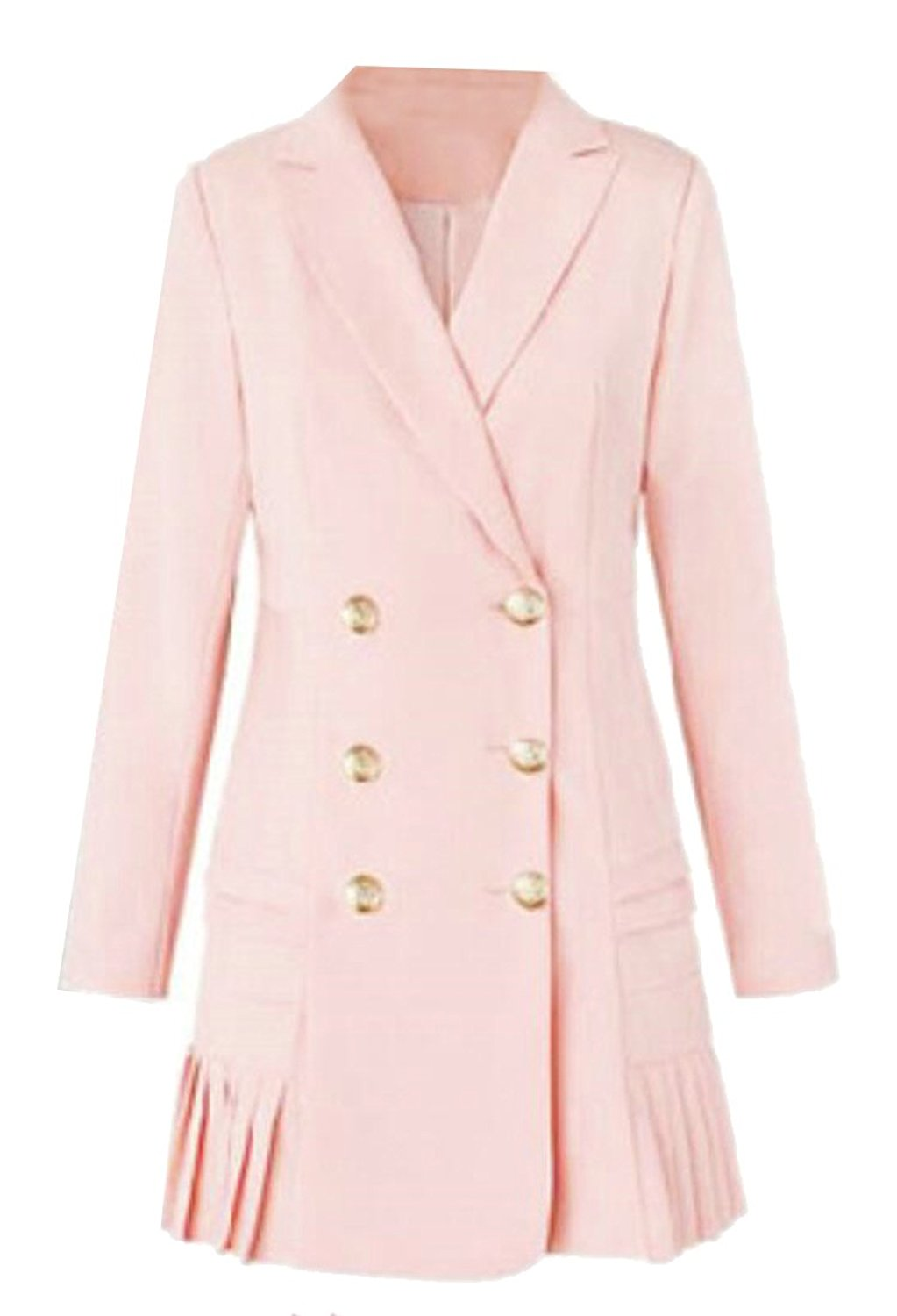 f89faf983a3f Get Quotations · NQ Womens Fashion Lapel Double-breasted Dress Suit Blazer  Jackets