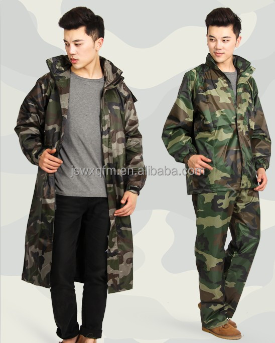 Customized Rain Jacket Mens Waterproof Jacket Clothes /camouflage ...