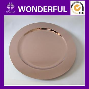 Ps Disposable Round Plastic Gold Plates - Buy Ps Disposable Round ...