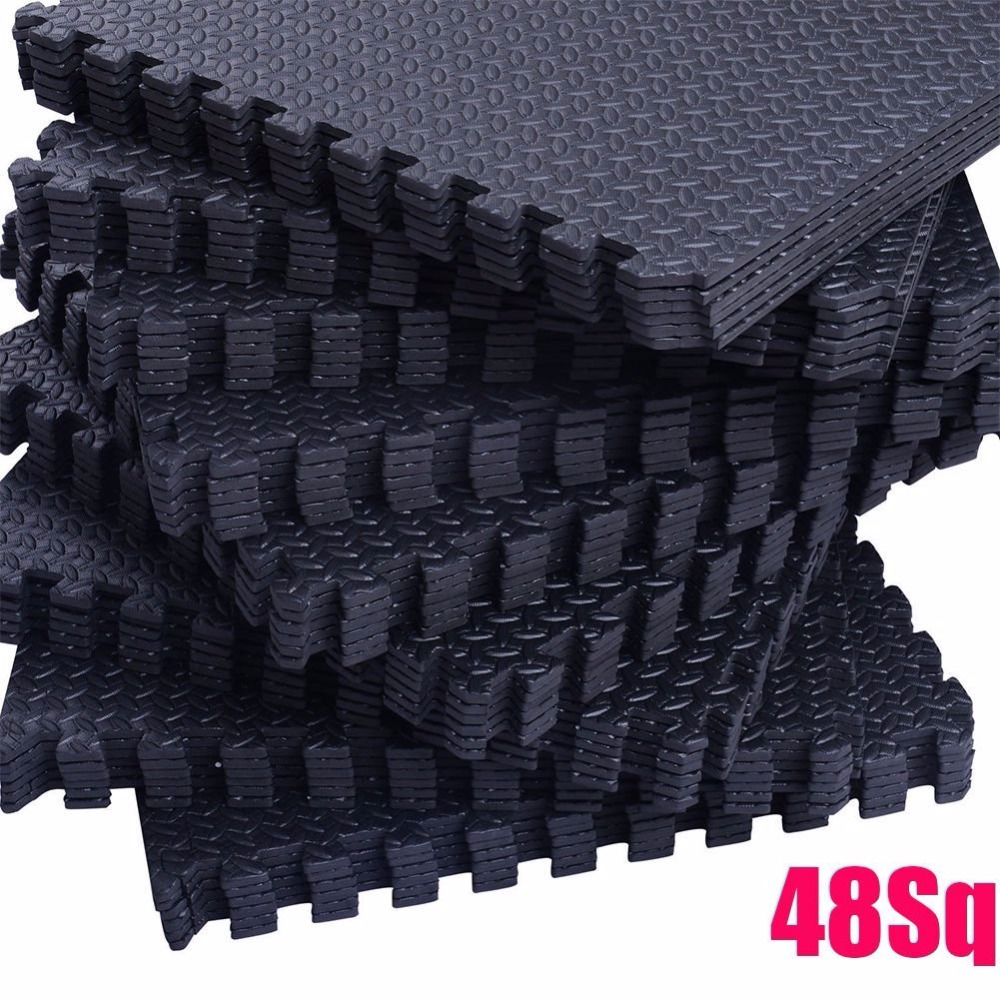 12PC EVA Soft Foam Pad Interlocking Home Gym Garage Kids Play 30*30cm Floor Mat