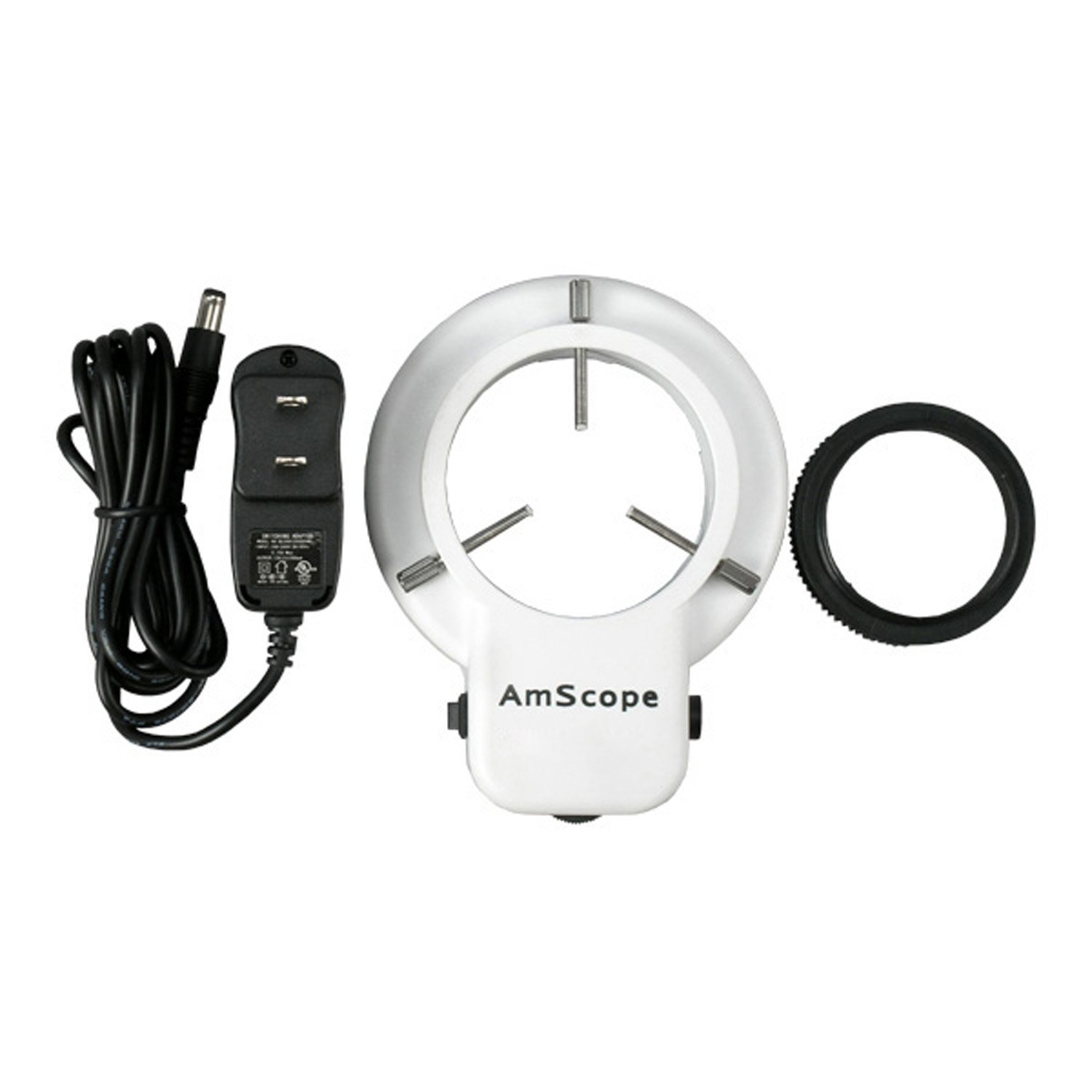 AmScope LED-48 48 LED Microscope Ring Light w/ Dimmer + Adapter