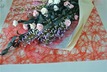 disposable hot stamping sizo fiber for upscale floral and gift wrapper