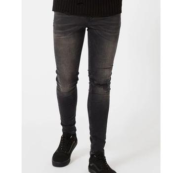 4ad556d0aa20 2017 New Style Jeans Pent Men Dark Grey Denim Jeans Wholesale ...
