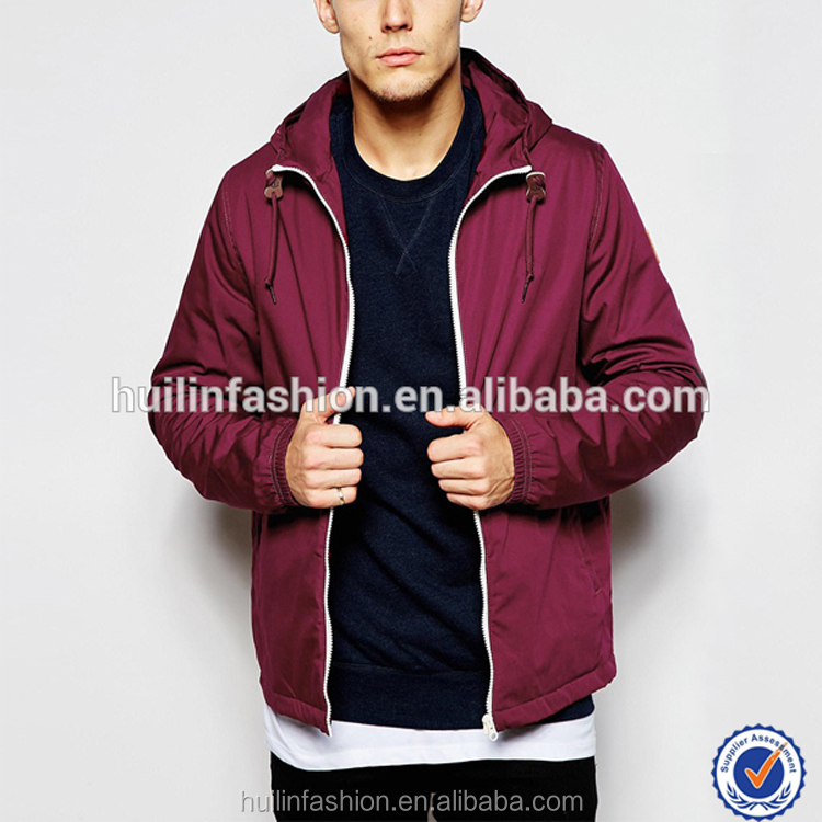 dongguan clothing manufacturer online shopping cheap winter jacket with hood new fashion red coat for men