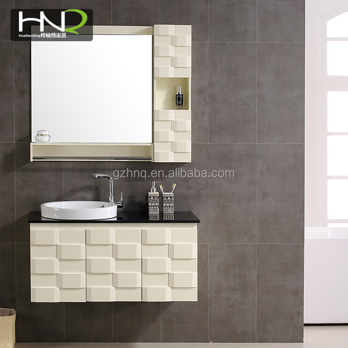 2018 wholesale new design factory directly high quality toilet wall hanging bathroom vanity cabinets