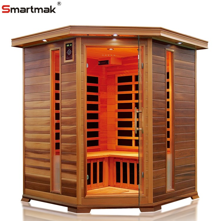 2 4 person wooden home portable red infrared sauna room for Portable wooden house