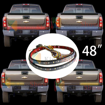 48 LED waterproof durable Tailgate Light With Red , Reverse White & Amber Turning LED