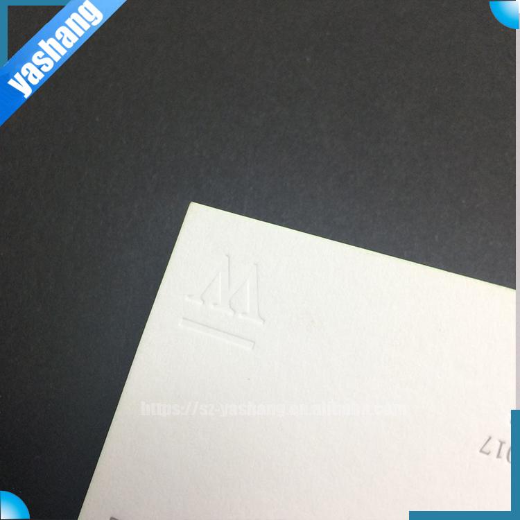 Cotton Paper Embossed Gold Foil Business Cards Gold Edge Letterpress ...