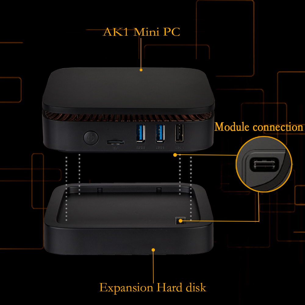 AK1 Intel 4-core celerom J3455 ultra low power mini pc window 10 for video,games,office,etc.