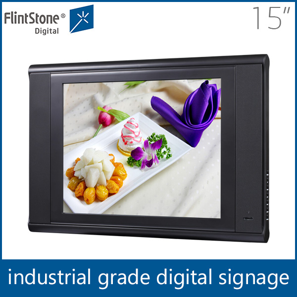 Flintstone 15 inch pos ad player, lcd in store display screen, retail shop lcd video player
