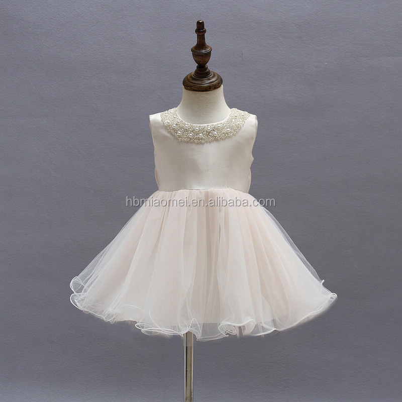 Simple Baptism Baby Clothing Dress White Lace First Communion Infant ...