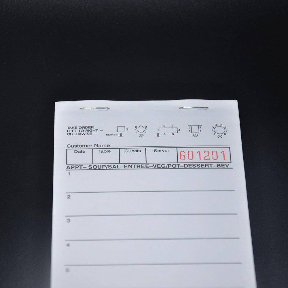 One part waiter order pad book soft paper