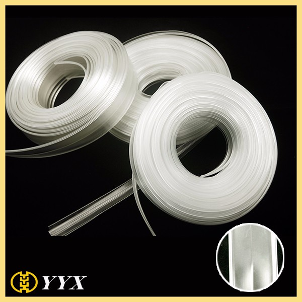 Heavy duty 22 mm Clip PVC zipper without teeth