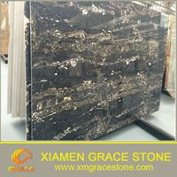black galaxy / black nero Marquina /imperial gold flower marble granite slab