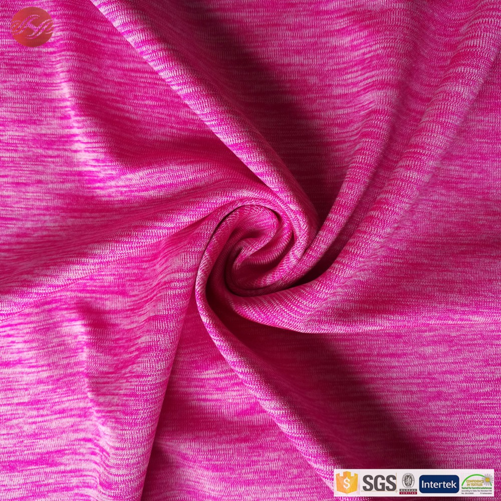 Knit 90 polyester 10 spandex space dye dress fabric buy for Space pants fabric