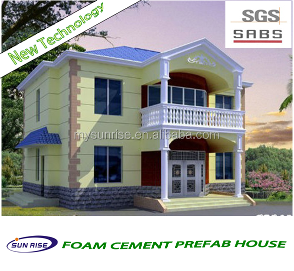New technology low costs fast installation foam cement mobile house