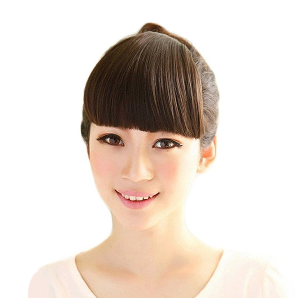 Buy Smilco Clip In Front Neat Bang Synthetic Hair Fringe Bangs Hair
