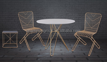 Gold Plated Marble Dining Table Round Iron Wire Modern Table Buy Round Marble Top Dining Table Modern Marble Dining Room Tables Marble Top Iron Dining Table Product On Alibaba Com
