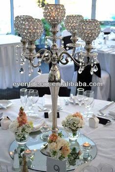 5 arms wedding decoration k9 crystal ball candelabra centerpieces 5 arms wedding decoration k9 crystal ball candelabra centerpieces for wedding supplies junglespirit Image collections