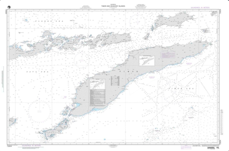 NGA Chart 73004-Timor And Adjacent Islands, Indonesia