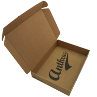Custom made natural brown corrugated paper packing box for gloves on sale