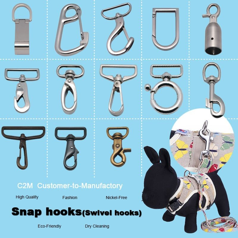 New Design Alloy Snap Hooks For Keychains and Craft Making