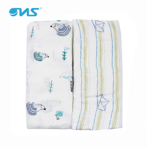 Eco-friendly baby muslin swaddle infant wrap in cotton / bamboo
